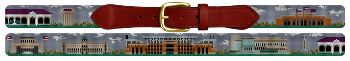 College Station Texas Needlepoint Belt Canvas