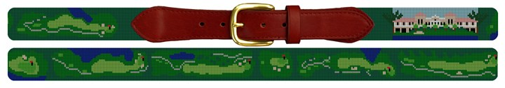 Imperial Golf Course Needlepoint Belt Canvas