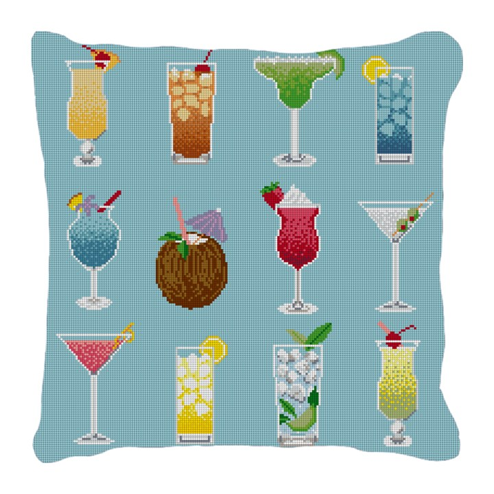 Summertime Cocktails Needlepoint Pillow