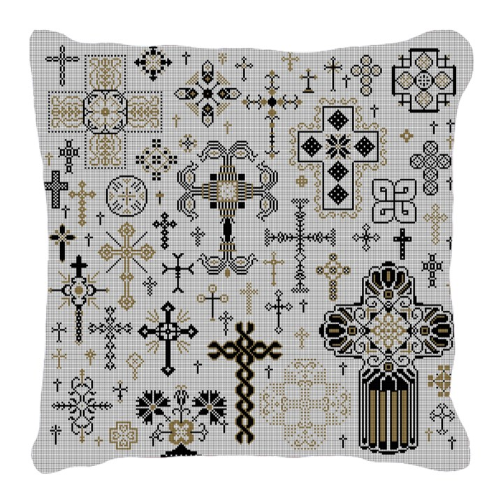 Ornate Crosses Needlepoint Pillow