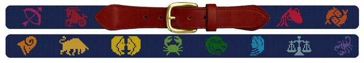 Zodiac Needlepoint Belt