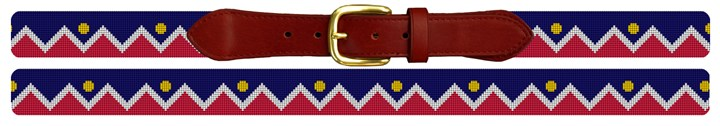 Denver Colorado Flag Needlepoint Belt