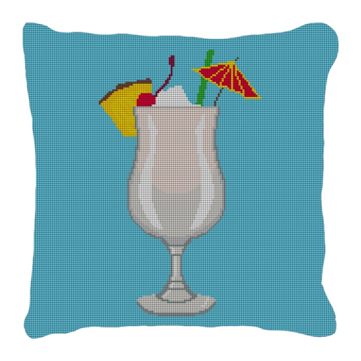 Piña Colada Needlepoint Pillow