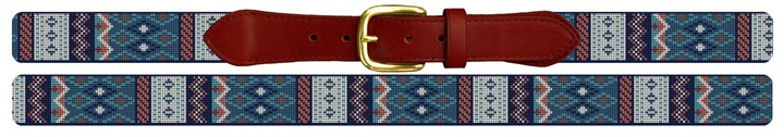 Geometric Needlepoint Belt