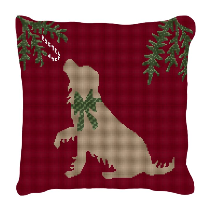 Christmas Dog Needlepoint Pillow