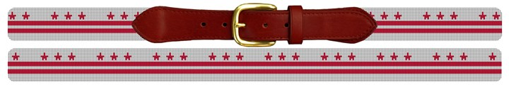 Washington DC Flag Needlepoint Belt