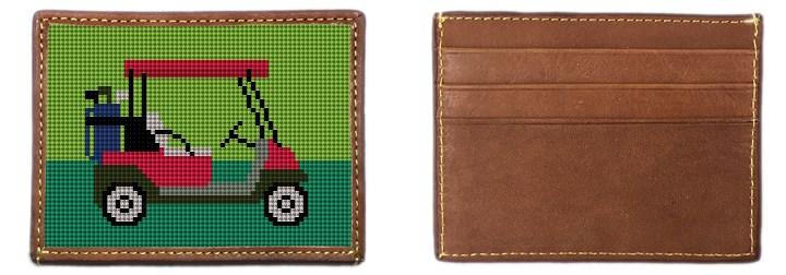 Golf Cart Needlepoint Card Wallet