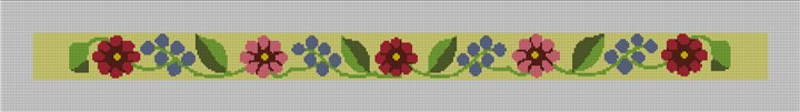 Fresh Floral Hatband Needlepoint Canvas