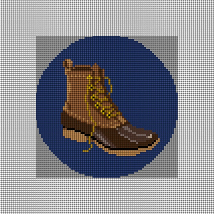 Winter Boot Needlepoint Ornament Canvas
