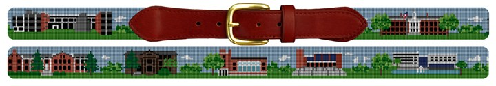 Glassboro New Jersey Landscape Needlepoint Belt