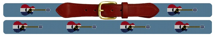 American Guitars Needlepoint Belt