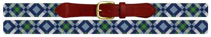Diamond Plaid Needlepoint Belt
