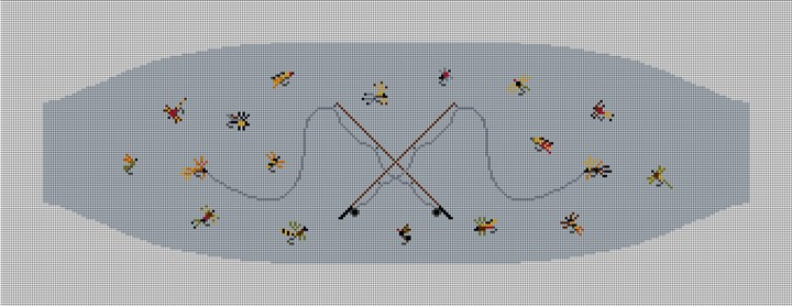 Fly Fishing Needlepoint Cummerbund Canvas