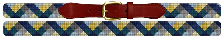 Triangular Wave Needlepoint Belt