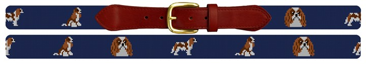 Cavalier King Charles Needlepoint Belt