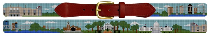 Little Rock Arkansas Landscape Needlepoint Belt