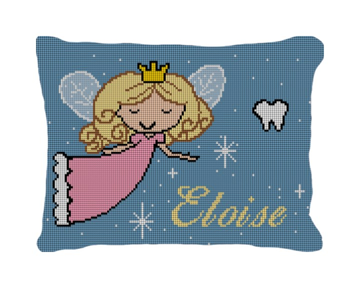 Tooth Fairy Needlepoint Pillow