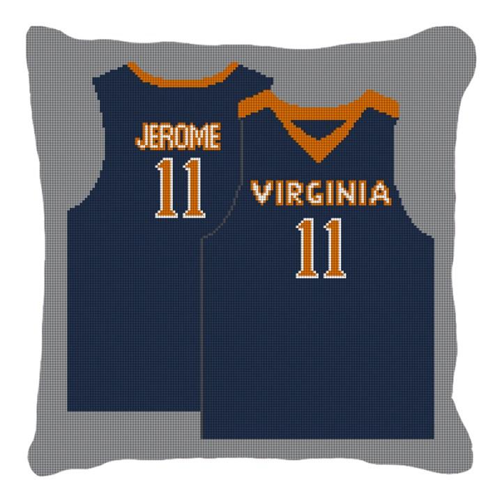 Basketball Jersey Needlepoint Pillow