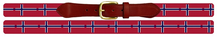Norway Flag Needlepoint Belt Canvas