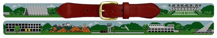 Colorado Springs Landscape Needlepoint Belt