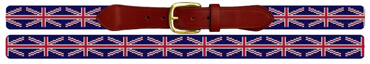 Union Jack Flag Needlepoint Belt Canvas