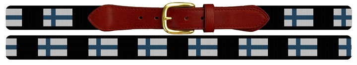 Finland Flag Needlepoint Belt Canvas