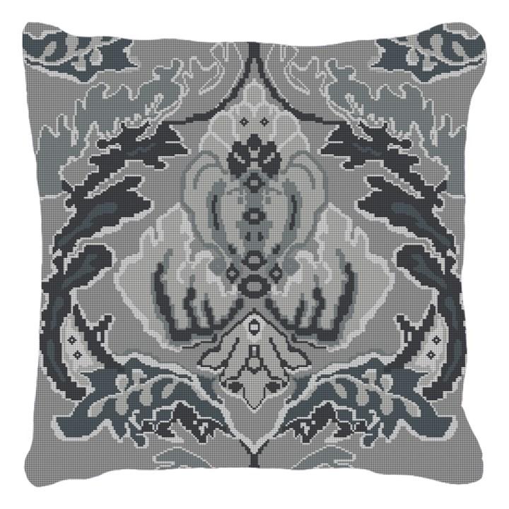 Damask Monochromatic Needlepoint Pillow