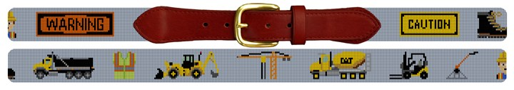 Work Zone Needlepoint Belt