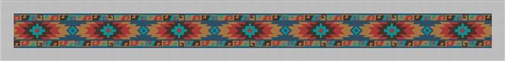 Southwestern Purse Guitar Strap Needlepoint Canvas