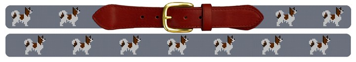 Papillon Needlepoint Belt