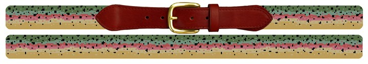 Rainbow Trout Skin Needlepoint Belt