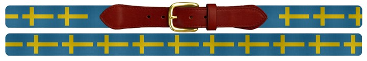 Flag of Sweden Needlepoint Belt Canvas