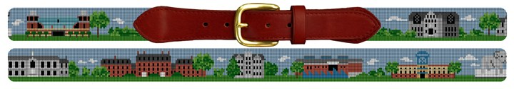 Kingston Rhode Island Landscape Needlepoint Belt