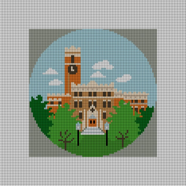 Georgia Tech Tower Needlepoint Ornament Canvas