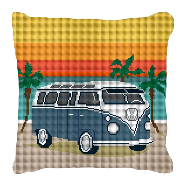Hippie Van Needlepoint Pillow