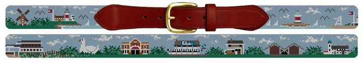 The Hamptons Needlepoint Belt Canvas