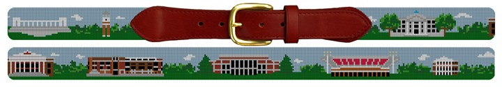 Bowling Green Kentucky Landscape Needlepoint Belt