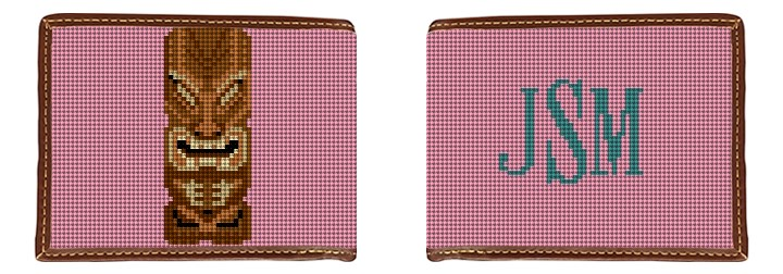 Tiki Needlepoint Wallet Canvas