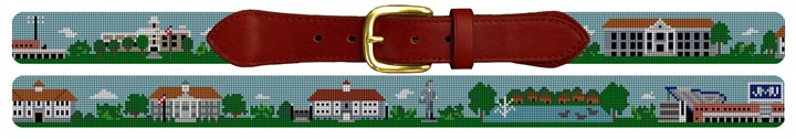 Harrisonburg Virginia Landscape Needlepoint Belt