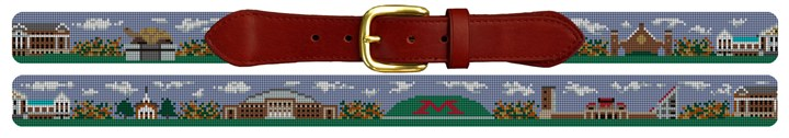 College Park Maryland Landscape Needlepoint Belt