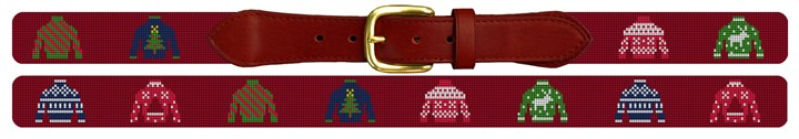 Ugly Sweater Needlepoint Belt