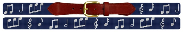 Music Notes Needlepoint Belt