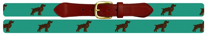 Boykin Spaniel Needlepoint Belt