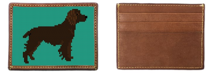 Boykin Spaniel Needlepoint Card Wallet