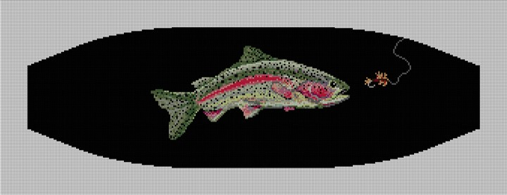 Rainbow Trout Cummerbund Needlepoint Canvas