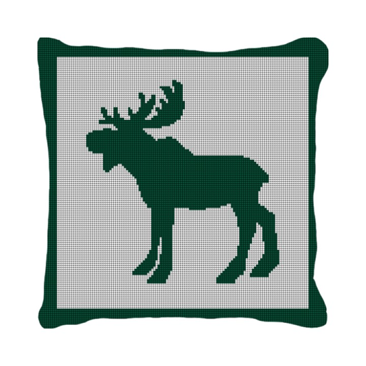 Majestic Moose Needlepoint Pillow