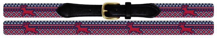 Reindeer Needlepoint Belt