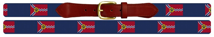 St. Louis Flag Needlepoint Belt