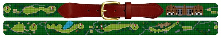 Nassau Country Club Golf Course Needlepoint Belt
