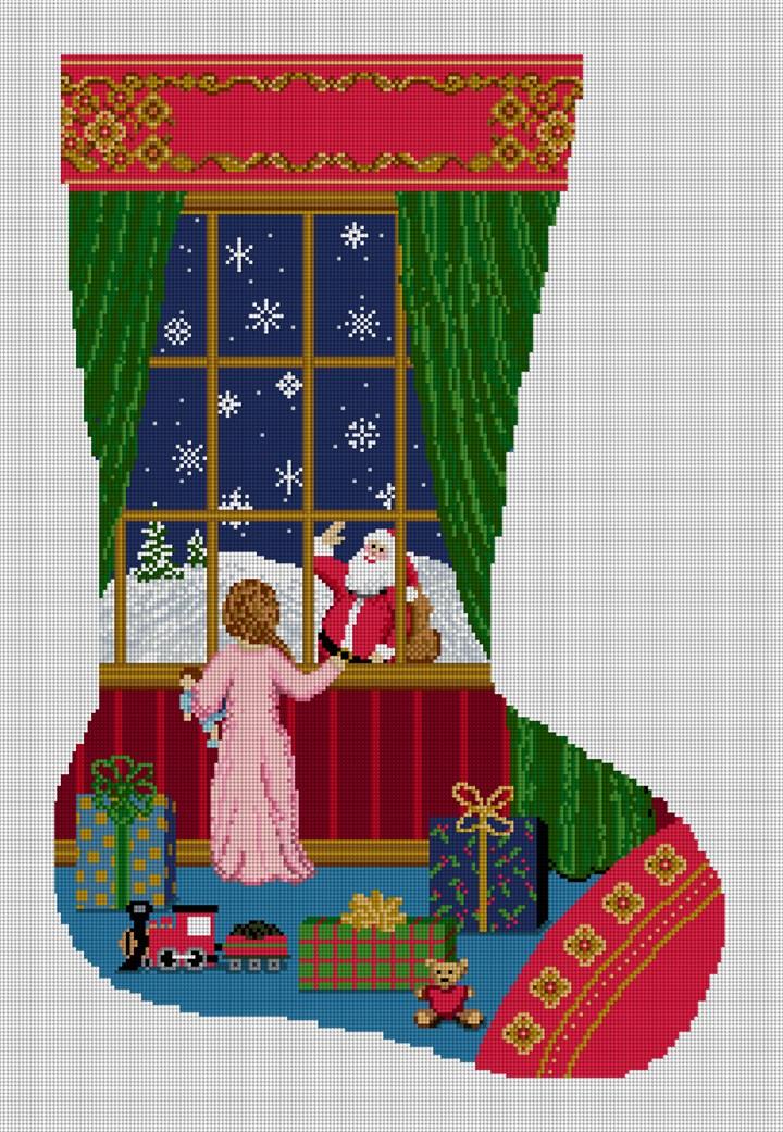 Holiday Dreams Stocking Needlepoint Canvas